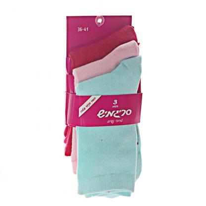 גרביים נשים ארוכות צבעוני.